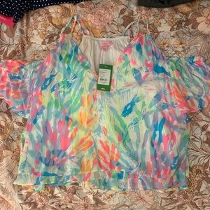 Lilly Pulitzer Tops - Lily Pulitzer off-the-shoulder top